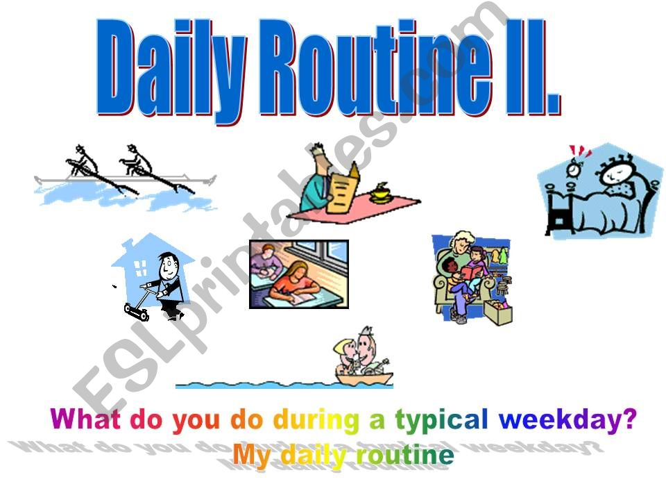 Daily routines animates ppt 2/2