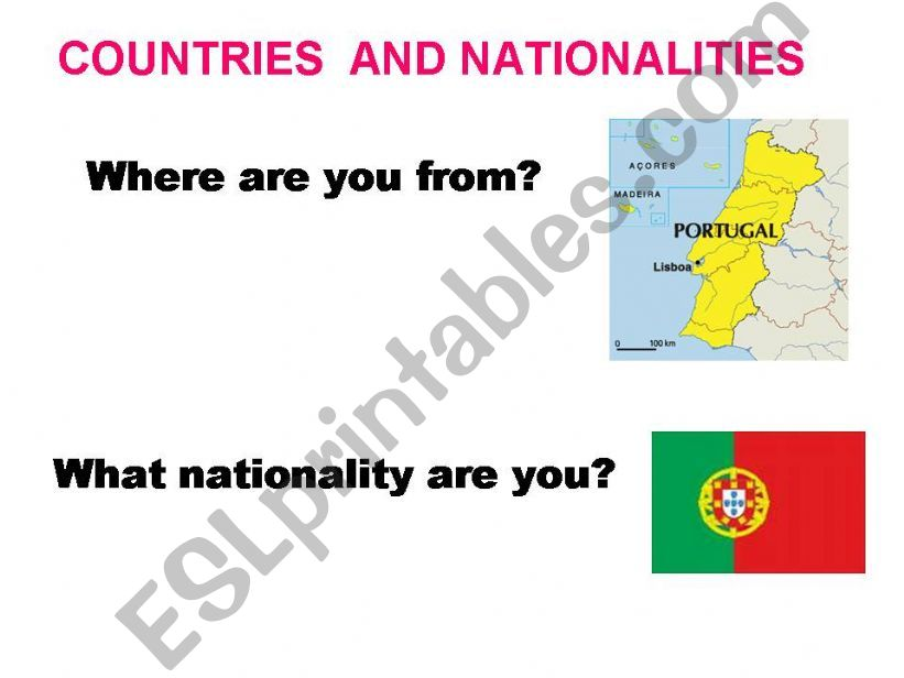 countries and nationalities powerpoint