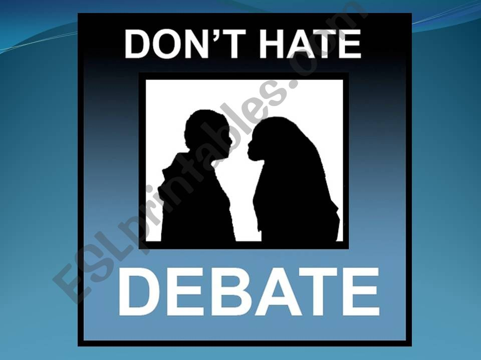 Debate Part 1 of 3 powerpoint