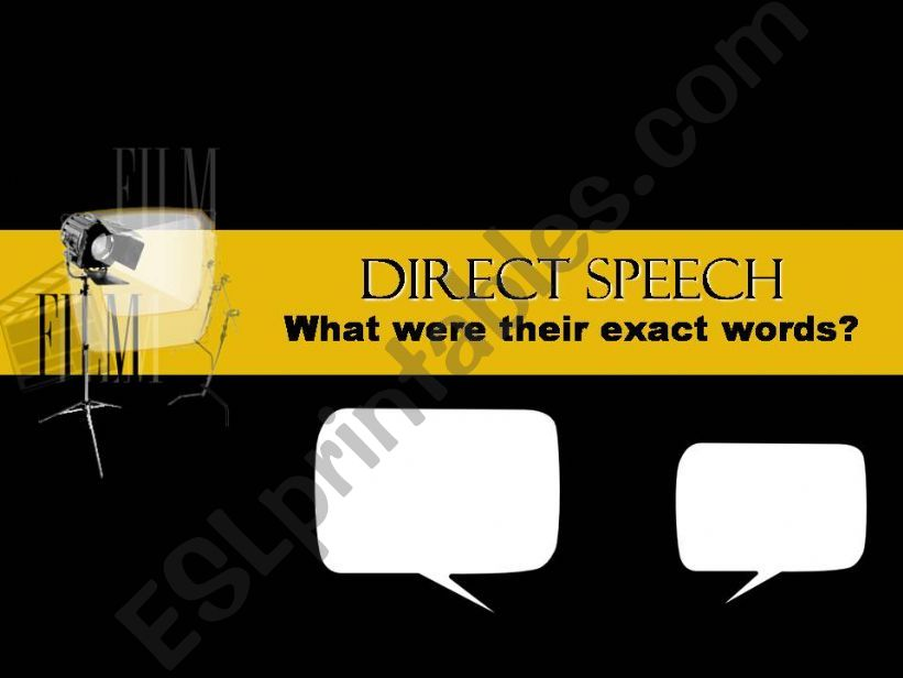 Direct Speech powerpoint