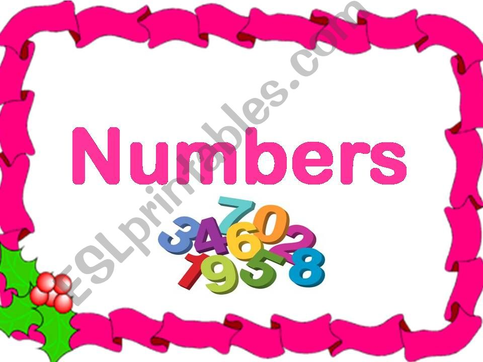 Numbers game  (Count and number)