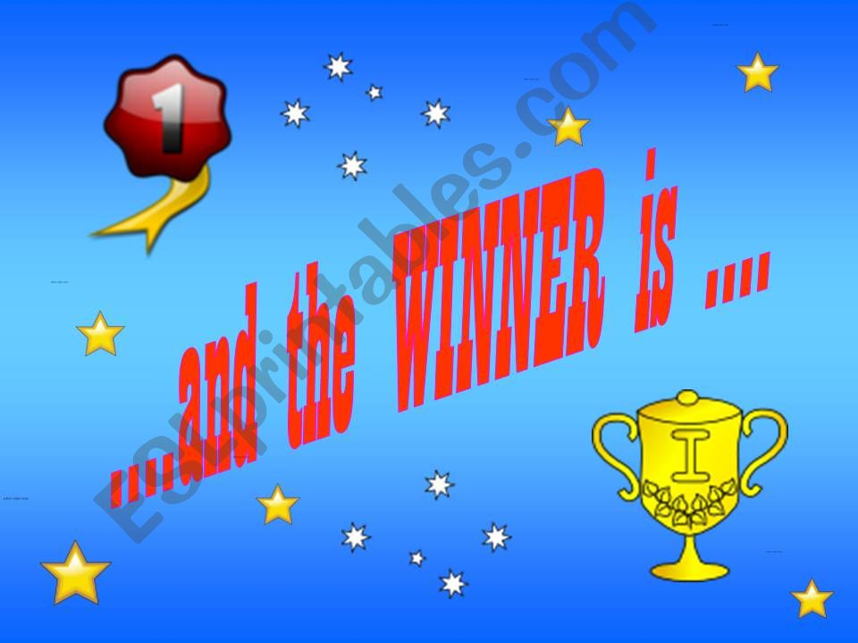 .... and the winner is .......