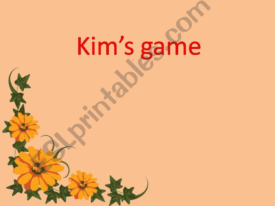 Kim´s game with countdown clock