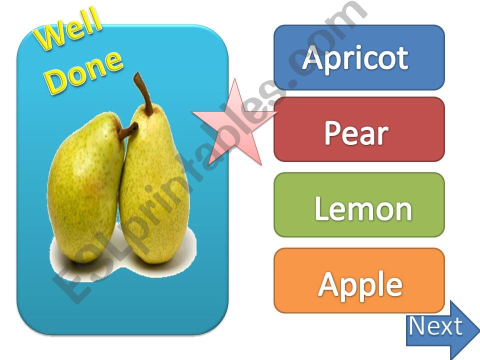 fruits & vegetables ppt game powerpoint