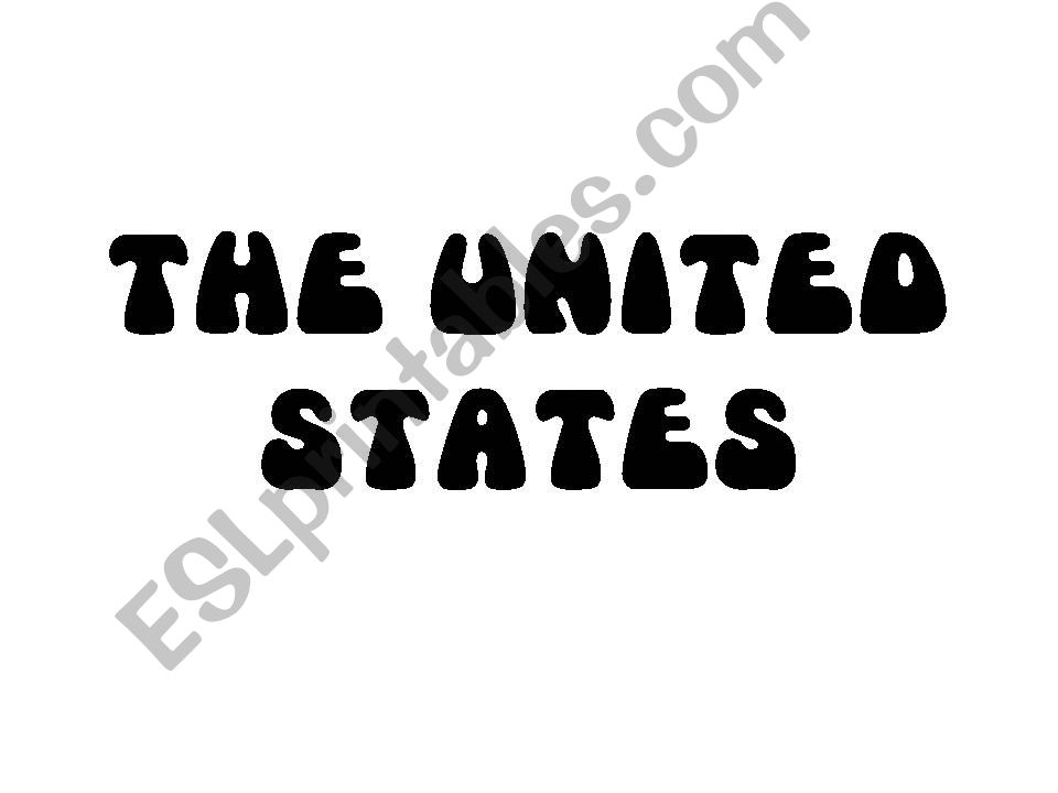 Presentation: the United States and prepositions