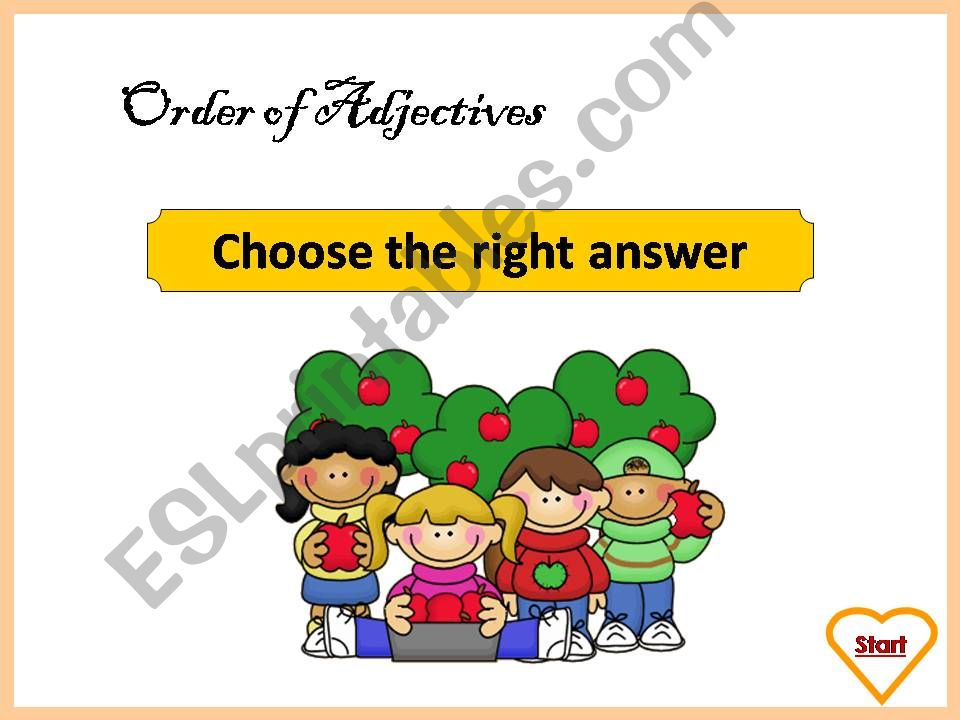 Order of Adjectives - Exercises