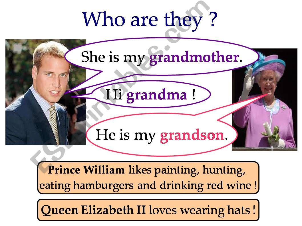 Family members with the Royal Family