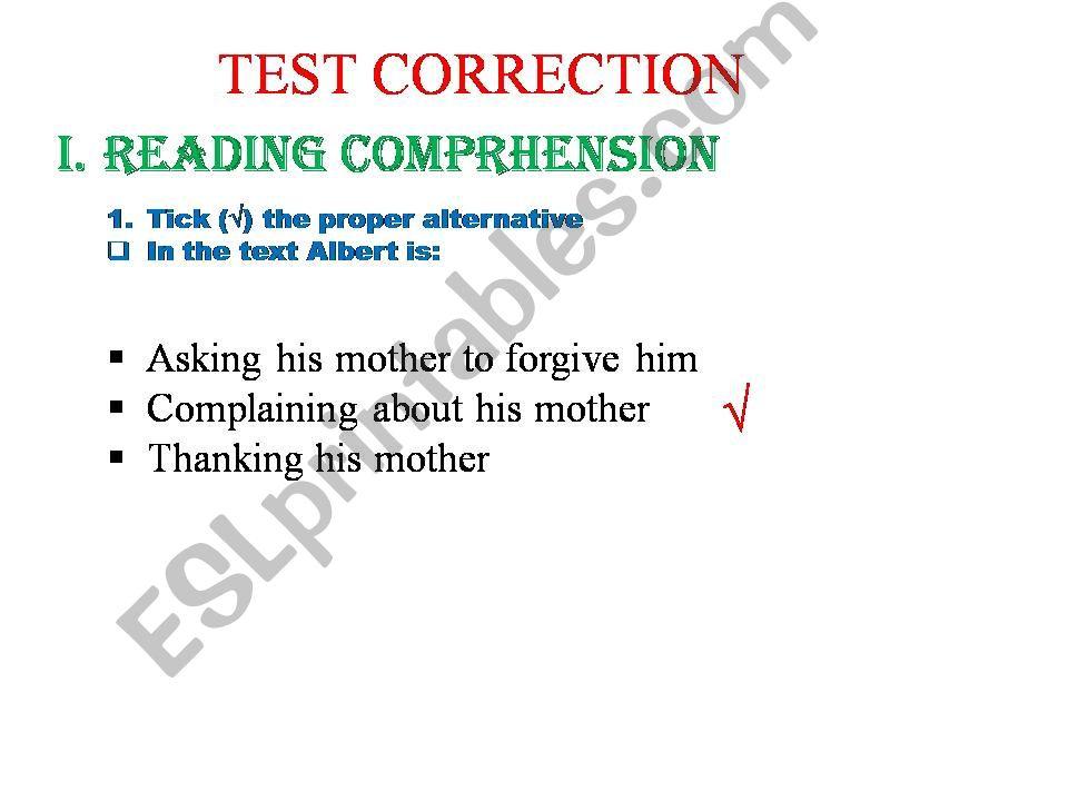 an exam correction powerpoint