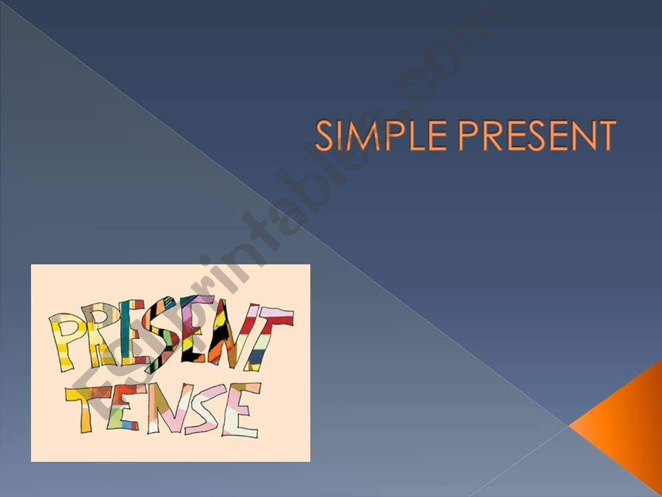Simple Present Exercise powerpoint