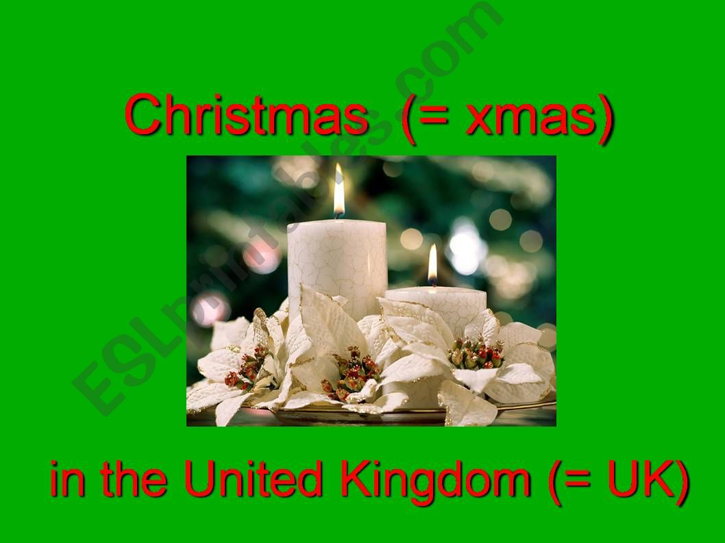 Christmas in the UK powerpoint