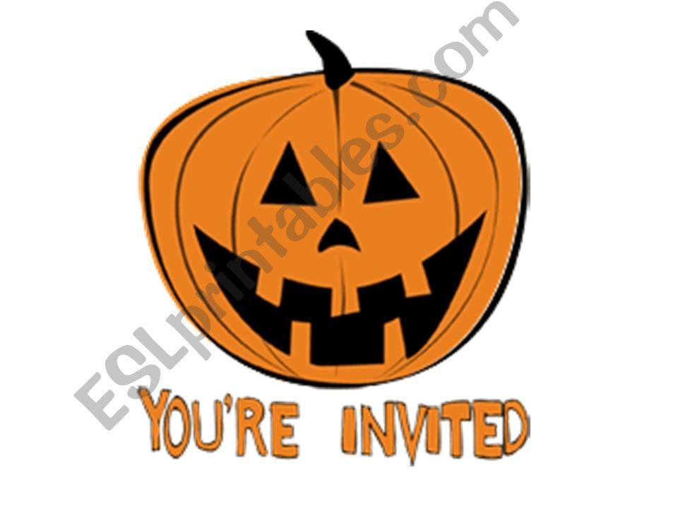 Halloween invitation card powerpoint