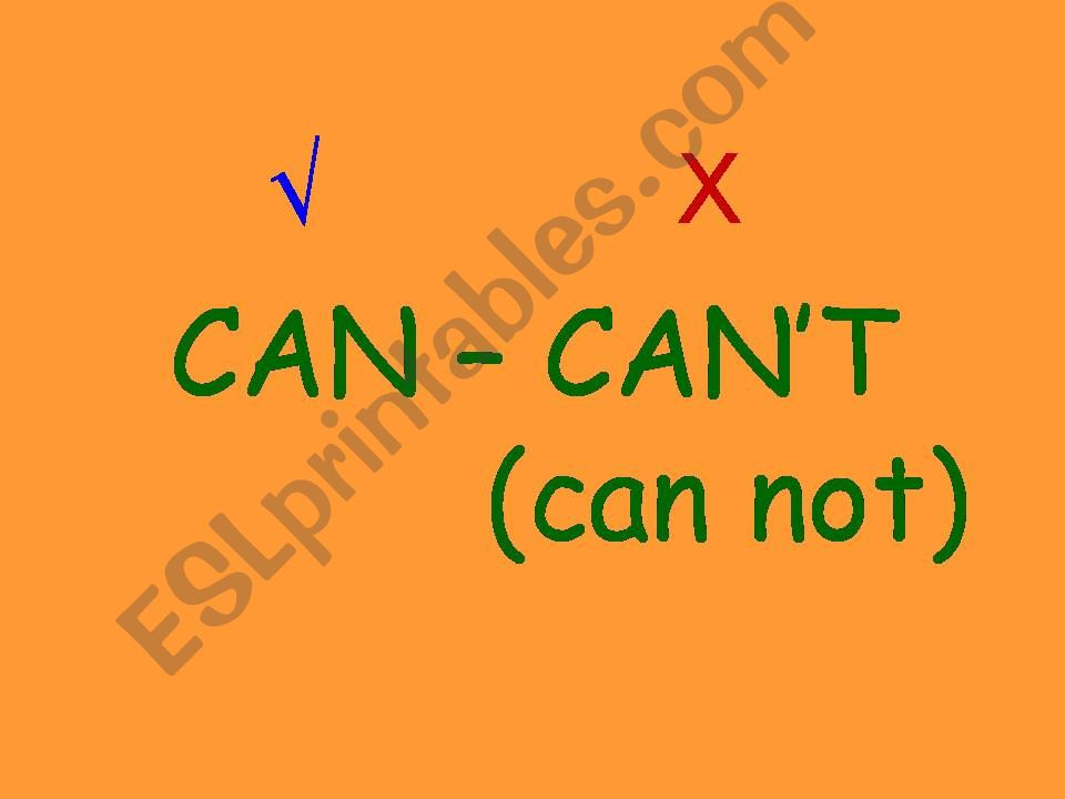 can can`t powerpoint