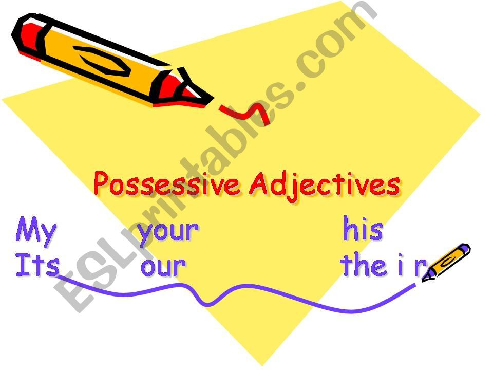 possessive adjectives powerpoint