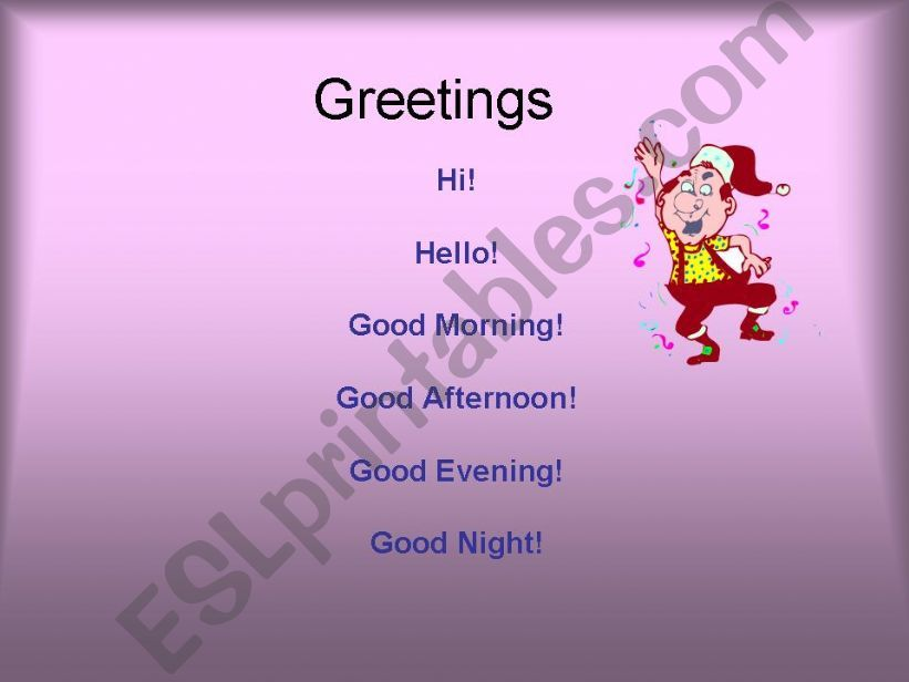 Greetings and farewells powerpoint