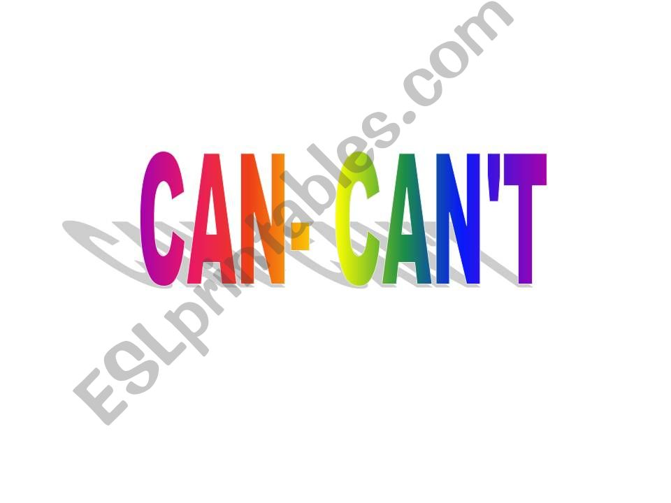can-can´t powerpoint