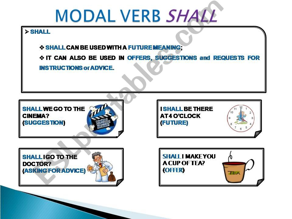 MODAL VERB SHALL powerpoint