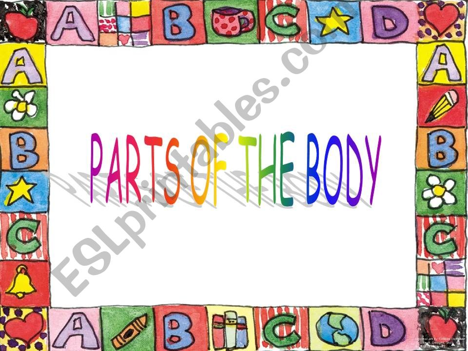 PARTS OF A BODY - MONSTER GAME