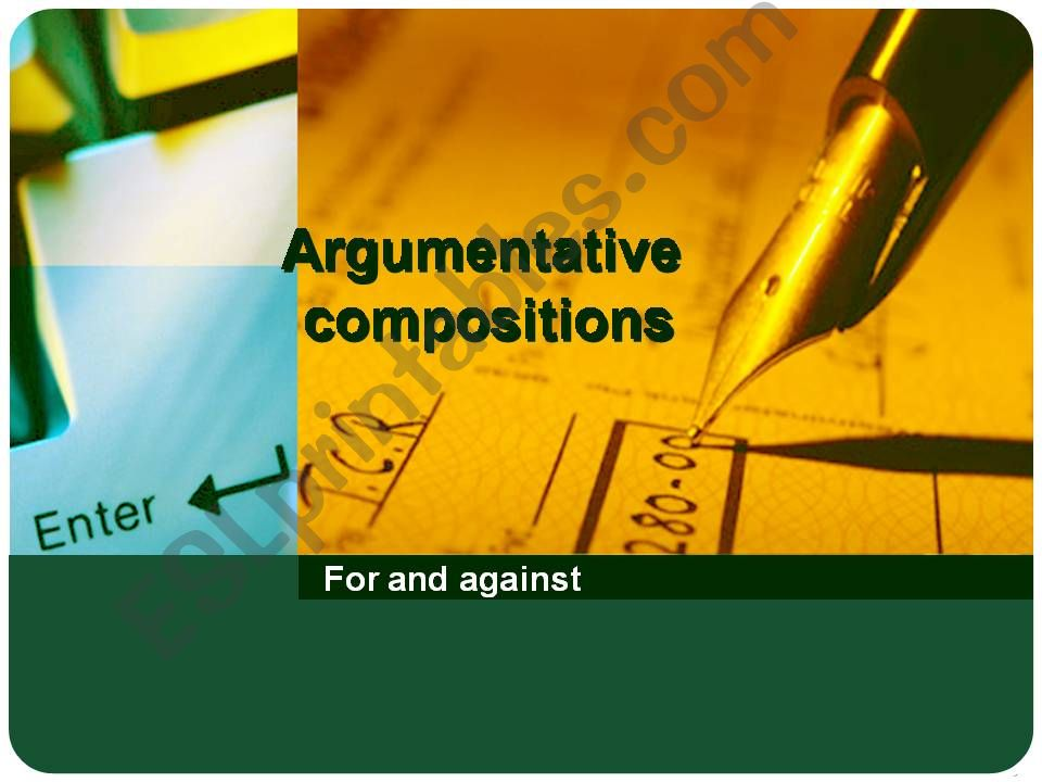 Argumentative composition powerpoint