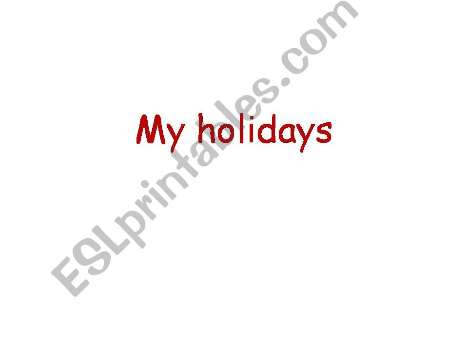 Holidays powerpoint