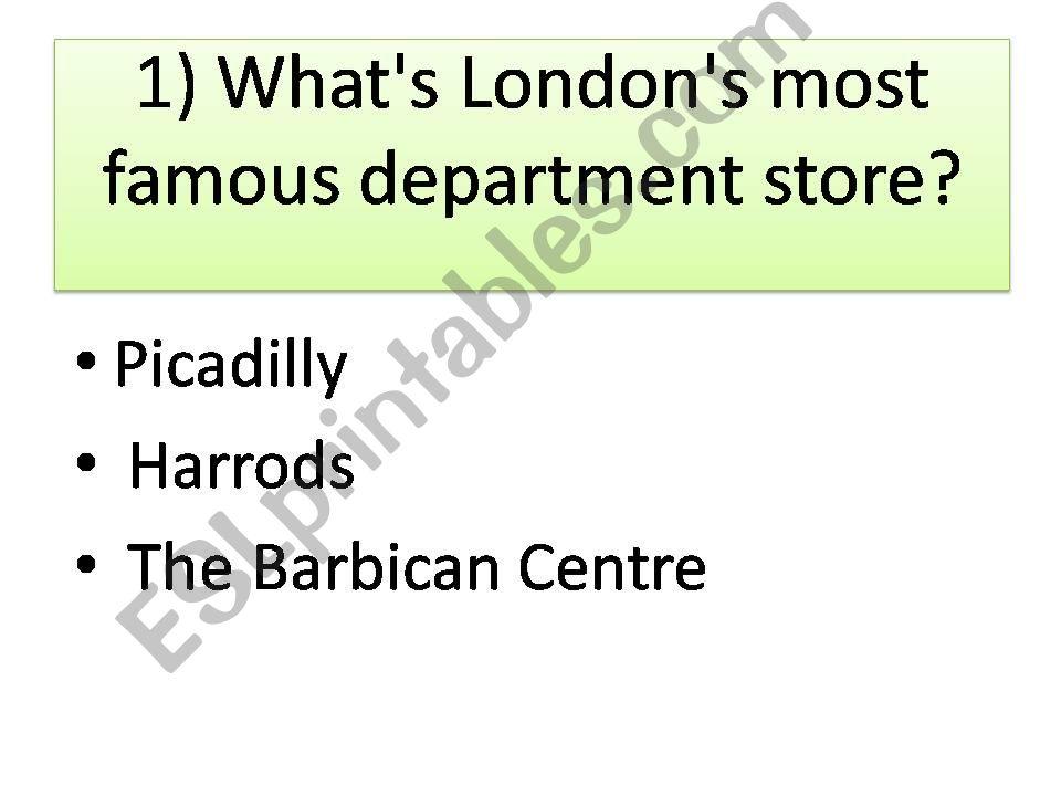London quiz powerpoint
