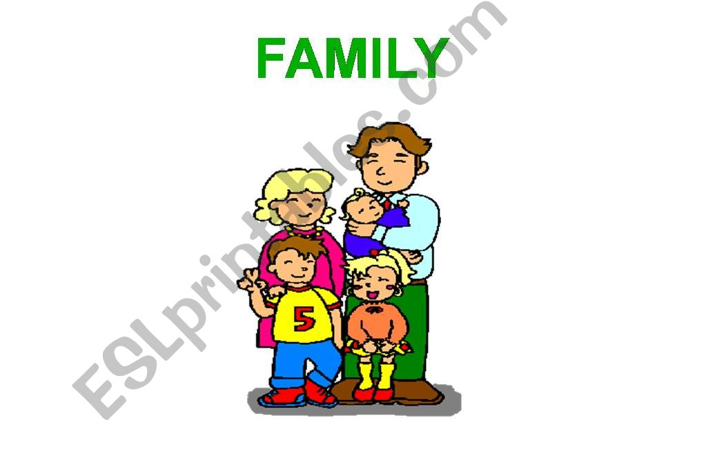 Family flashcards powerpoint