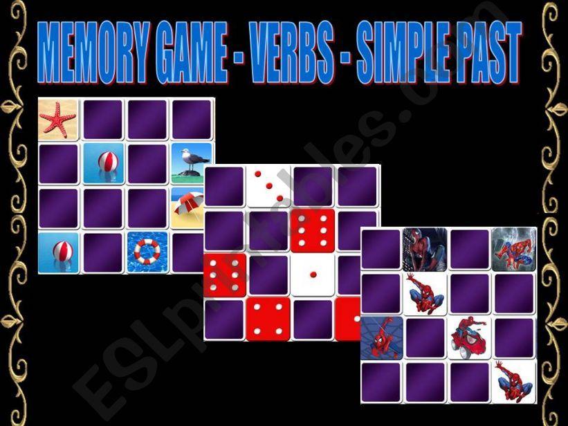 MEMORY GAME - SIMPLE PAST TENSE VERBS