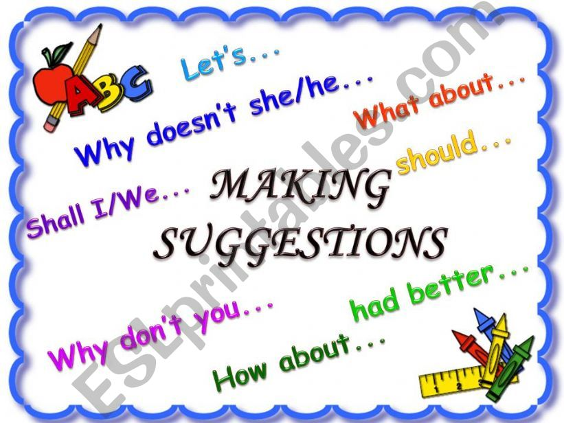 Making suggestions *part 1* powerpoint