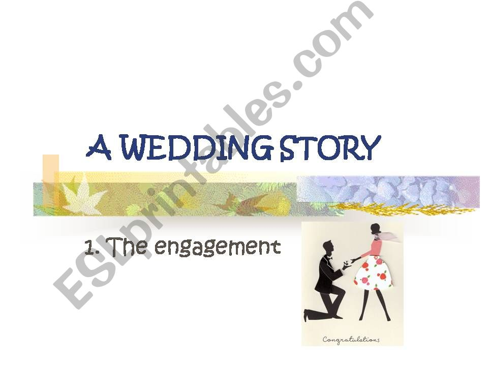 A WEDDING STORY powerpoint