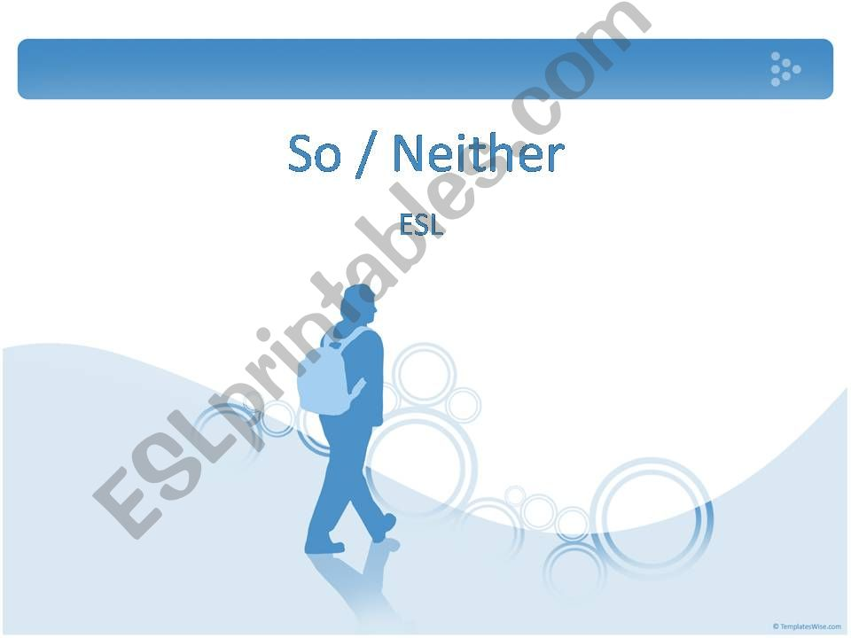 So / Neither powerpoint