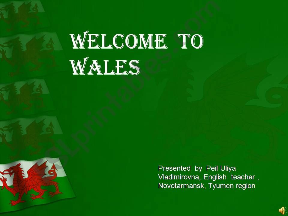 Welcome to Wales powerpoint