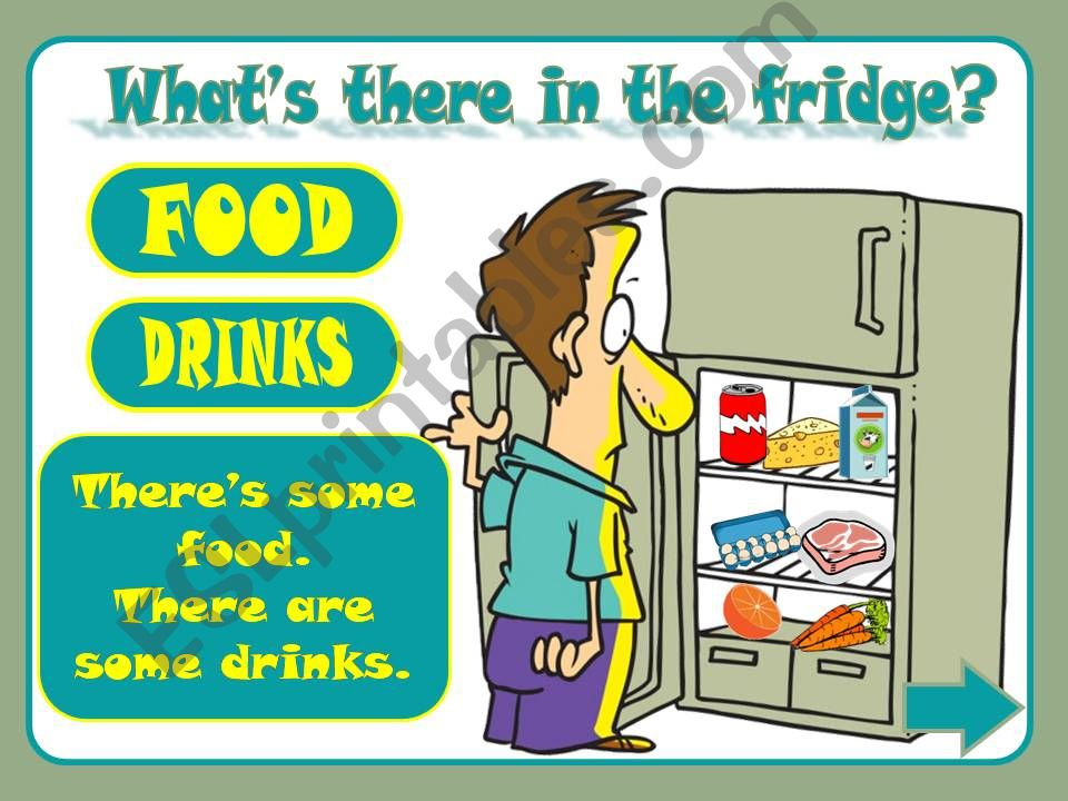 What´s there in the fridge? powerpoint