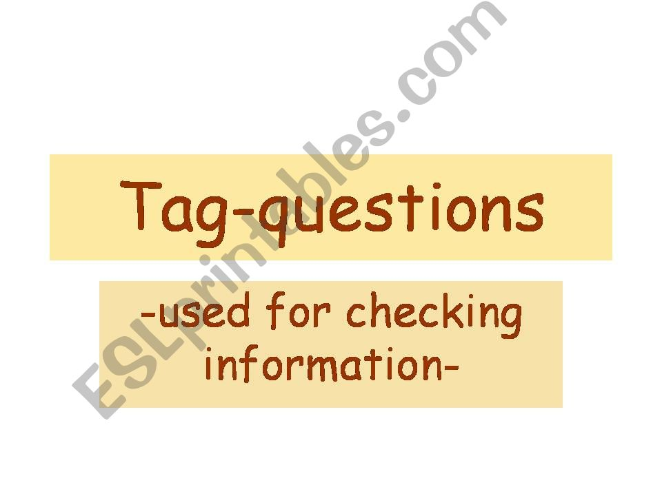 Tag-questions powerpoint