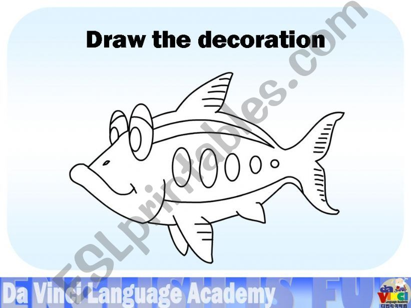 Esl English Powerpoints Learning To Draw Fish In English Shapes