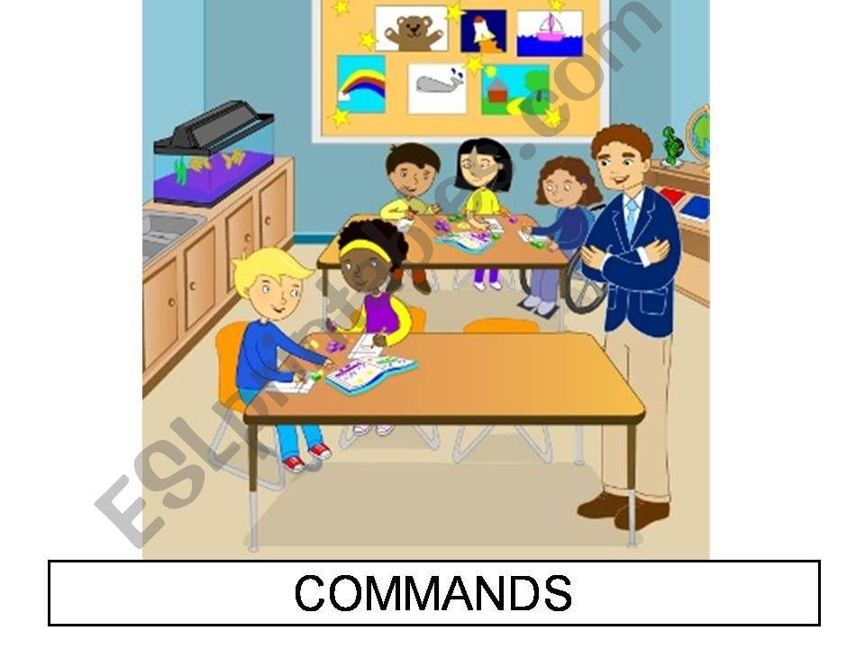 CLASSROOM COMMANDS - part 2 powerpoint
