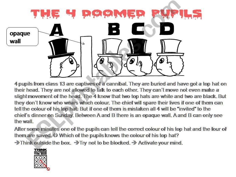 The four doomed pupils - Brainteaser