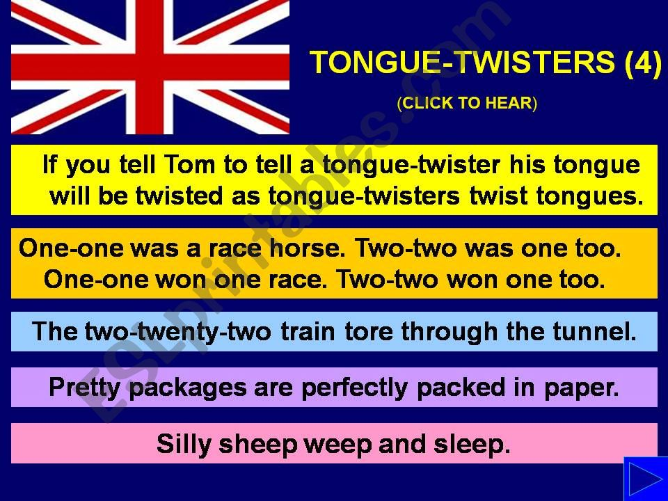TONGUE-TWISTERS with SOUND - Part 4