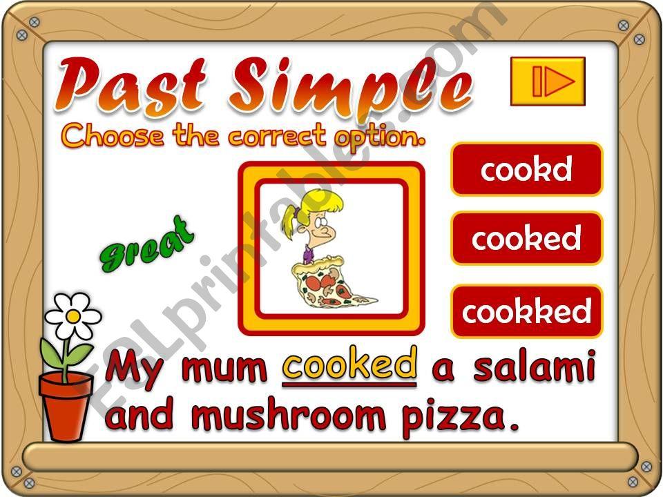 Past Simple - regular verbs *GAME*  (2)