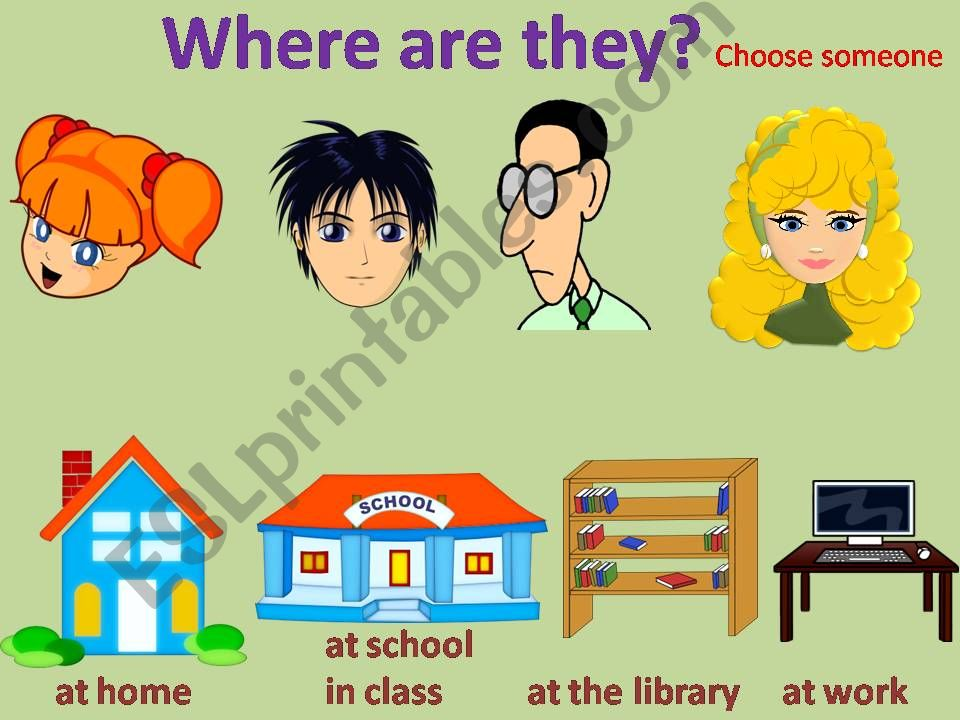 Where are they? powerpoint