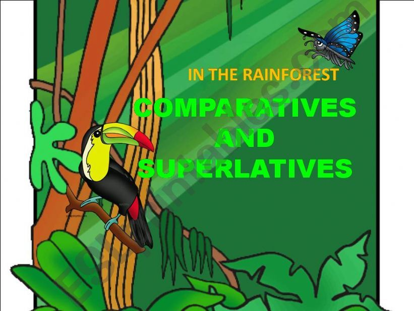 Comparing the rainforest powerpoint