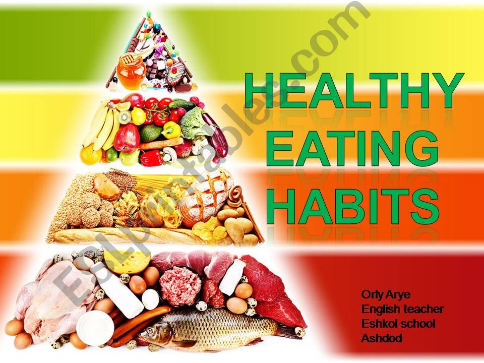 healthy eating habbits  powerpoint
