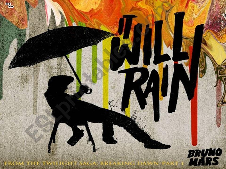 Bruno Mars: It Will Rain powerpoint