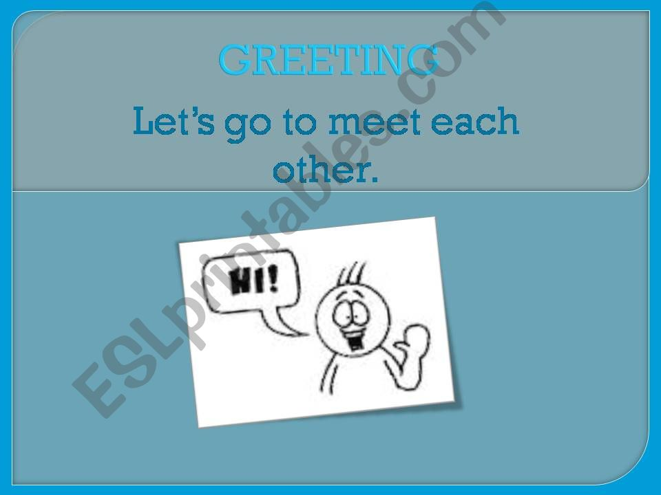 GREETING powerpoint