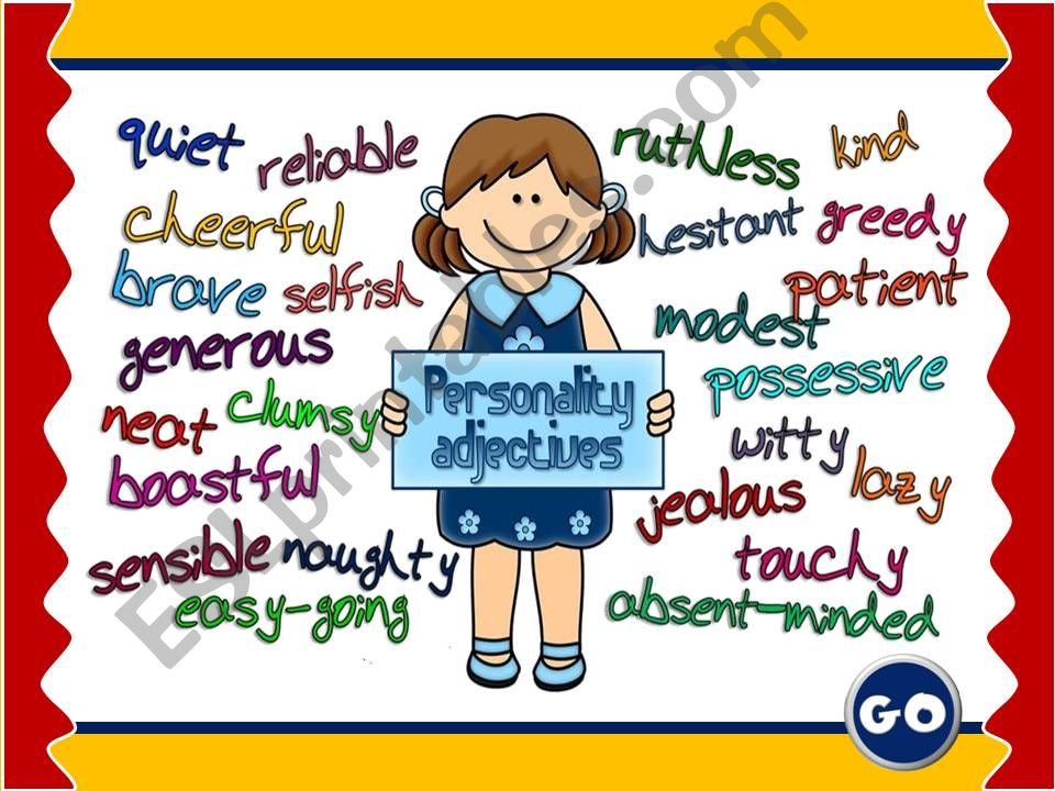 ESL - English PowerPoints: Personality adjectives - GAME