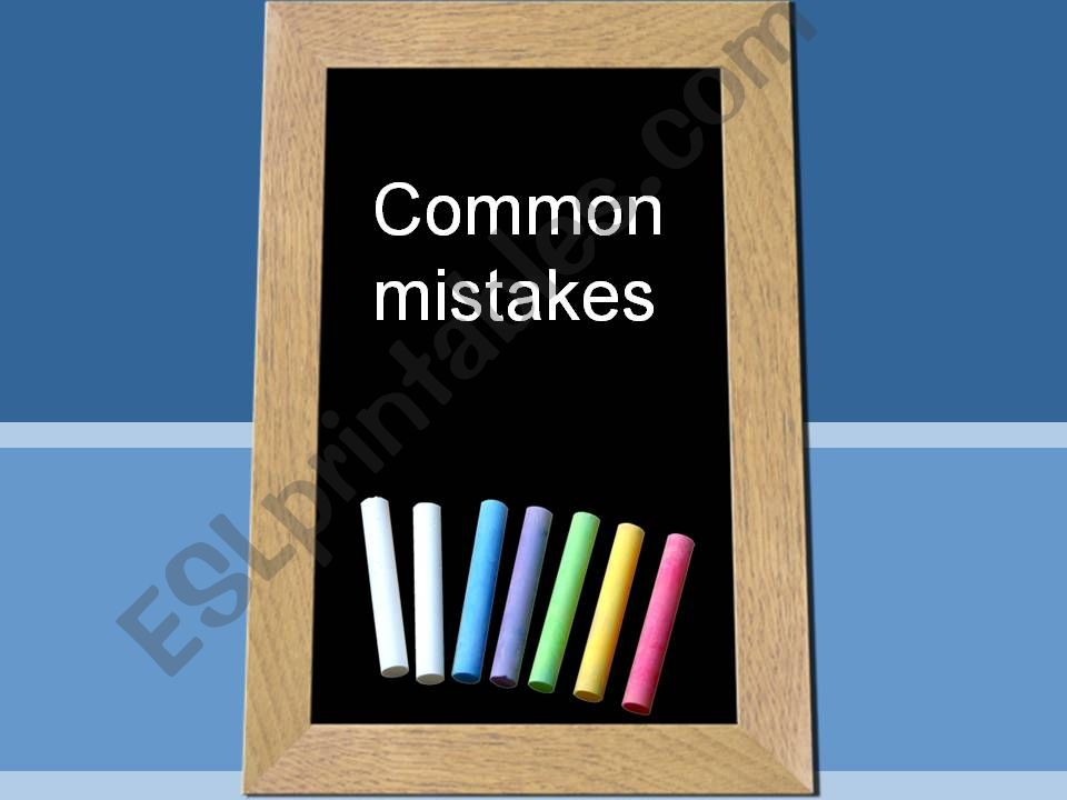 Common mistakes powerpoint