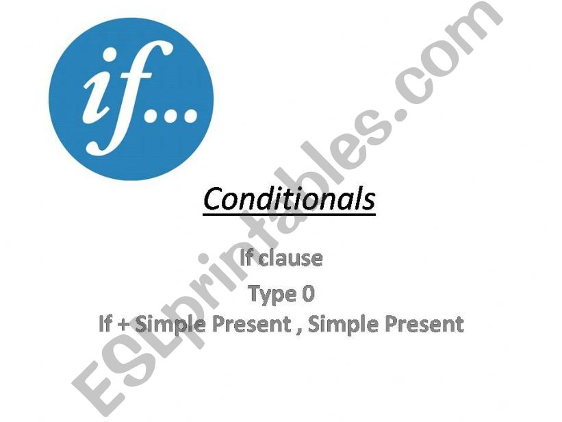 Conditional Sentences type 0-1