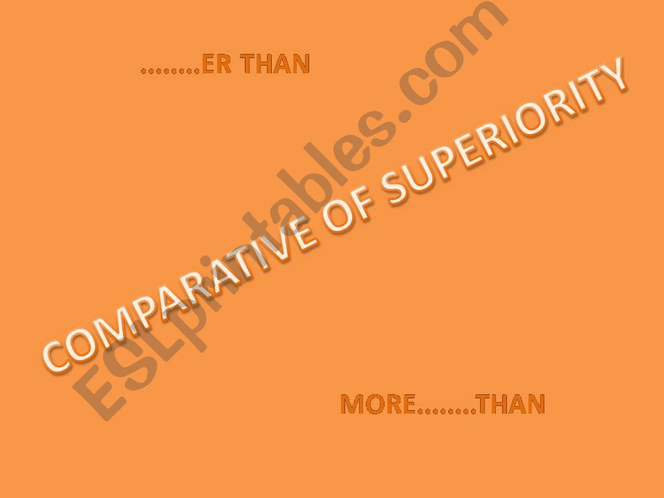 Comparative of superiority powerpoint
