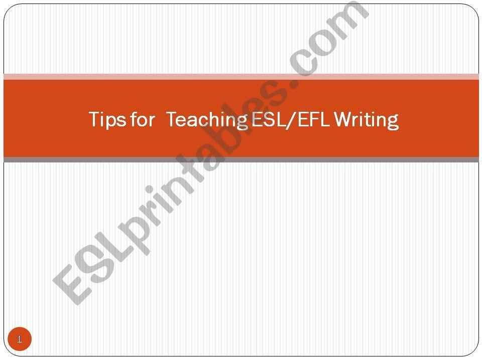 Teaching Writing powerpoint