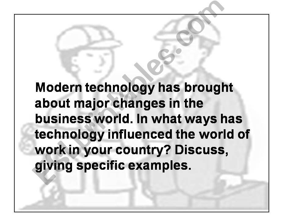 esl   english powerpoints essay modern technology and work essay modern technology and work