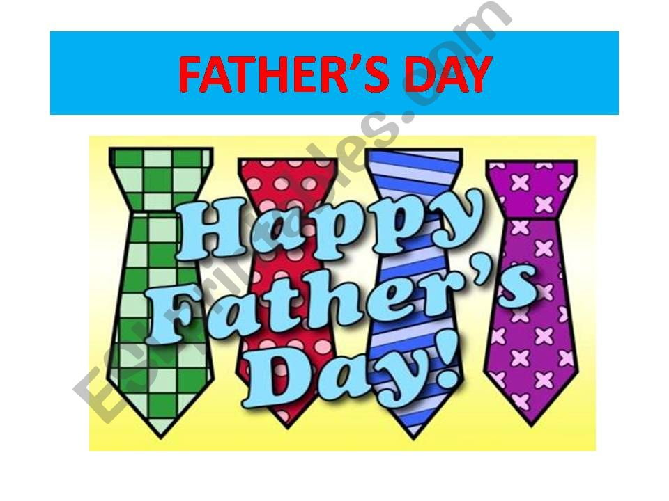 father´s day powerpoint
