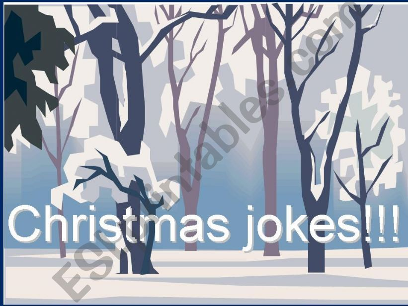 Christmas jokes! powerpoint
